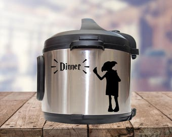 Instant pot Decal,  accio dinner, IP decal, crock pot decal, pressure cooker