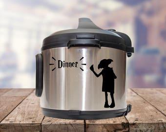 Instant pot Decal,  accio dinner, IP decal, crock pot decal, pressure cooker