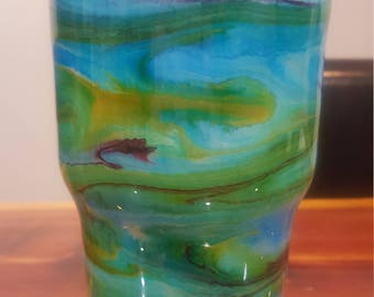 Tumbler with alcohol ink, 30 oz.