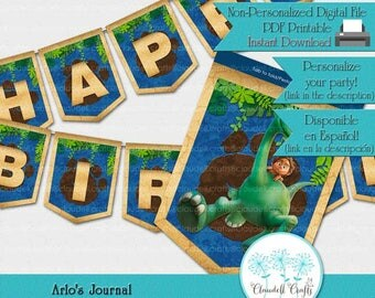 Arlo Journal Dinosaur Inspired Birthday Party Printable Banner