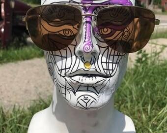 Vintage aviator sunglasses retro eyewear aviators goggles specks hunter s thompson 70s 80s 90s 60s