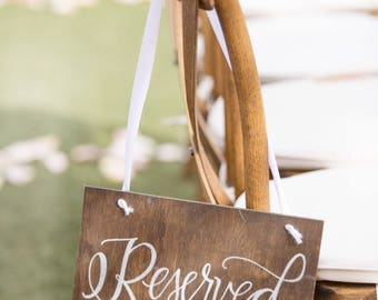 Reserved Sign - Aisle Sign - Seat Saver