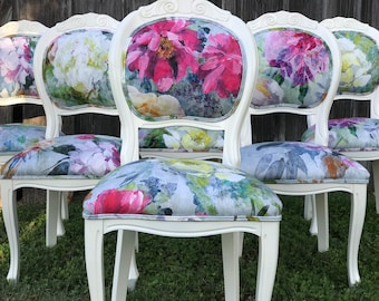 Eclectic Floral Dining Chairs