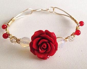 Ruby Rose Handmade Bangle Bracelet