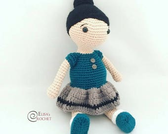 Amigurumi Crochet Doll Emma / Baby Girl / Stuffed Doll / Handmade Crocheted Doll for Girls