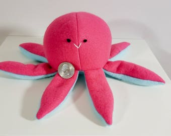 Cute Octopus Plush, Pink and Blue Octopus Stuffed Animal