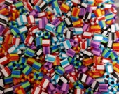 1000 pieces hama striped beads, 50gr. beads to be ironed, pyssla.