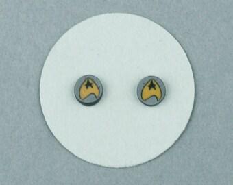 Star Trek, Command Insignia, Stud, Earrings