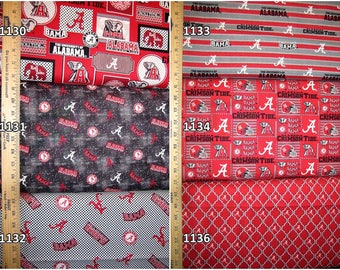 NCAA Alabama Crimson Tide Crimson & Black College Cotton Fabric! Roll Tide! 18 Options [Choose Your Cut Size]
