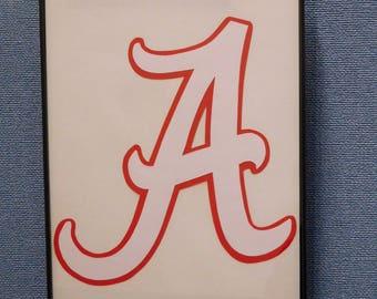 Alabama Crimson Tide Wall Art Hand Made