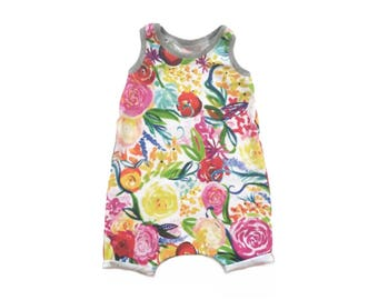 Floral Tank Playsuit - Baby Toddler Romper (18-24M)