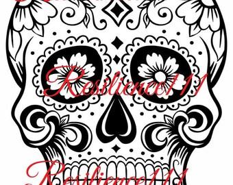 Skull template etsy sugar skull svg digital download file cutable printable svg png jpeg filepack pronofoot35fo Images