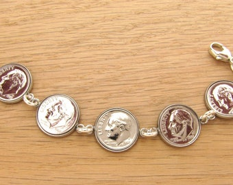 1965-2017 US Dime Bracelet - Birthday or Anniversary Gift Coin Jewelry