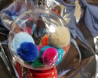Colorful poms ornament