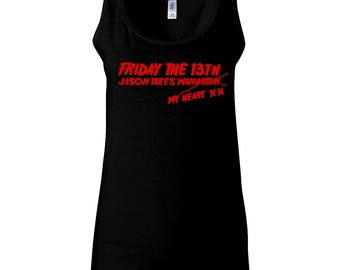 Jason Takes My Heart X X - Ladies Vest - Friday the 13th