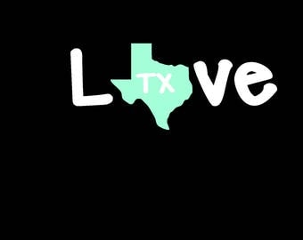 Texas State Decal Etsy - Custom car decals san antonio   how to personalize