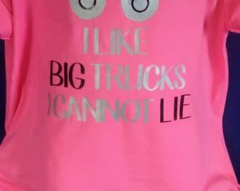 Big trucks kids shirts