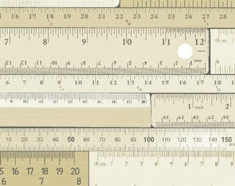 Windham Measure 43121-1 Beige Cream Tonal Ruler Number Fabric BTY