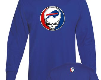 GD inspired Steal Your Face Bills style Long Sleeve Lot T-shirt 100% 6oz Soft Cotton