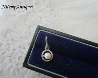 Silver pearl pendant real silver