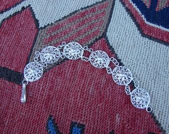 Bracelet 925 Sterling Silver in Ethnic Style, Filigree jewelry, Link Bracelet, Armenian Handmade Jewelry, Gift for Her, Bracelet for women