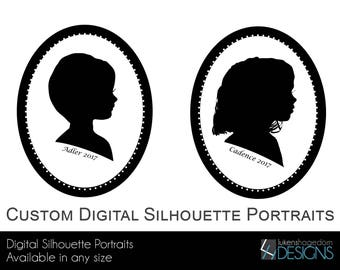 Custom Digital Silhouette Portraits