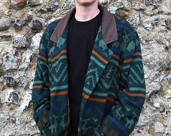 Vintage Aztec Wool Coat