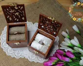 Rustic Ring Box Mr.&Mrs.-Wedding Ring bearer box set-Ring Keepsake Box-Ring Holder-Engagement ring box monograms-Wedding Gift-Proposal box