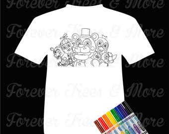 Color Me Tee-Five Nights At Freddy's
