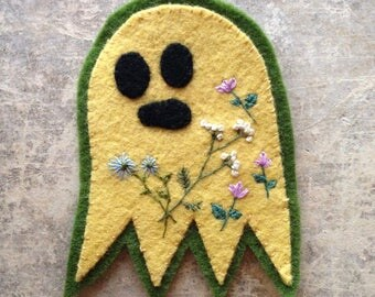 Yellow Ghost with Flowers