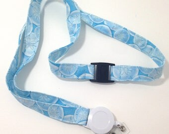Sand Dollar Nautical Lanyard - ID Holder - Badge Reel