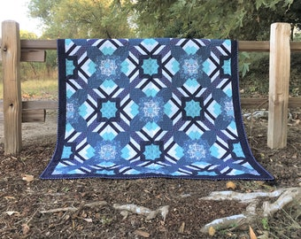 Calliope Quilt Kit, featuring prints from Gloaming by Shelley Cavanna of Cora's Quilts for Contempo Fabrics by Benartex