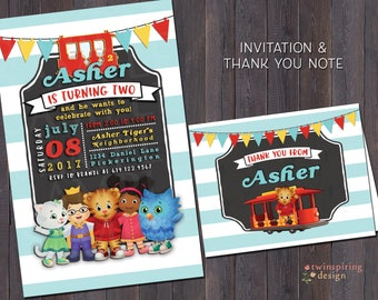 Daniel Tiger Birthday Invitation and/or Thank You Note DIGITAL FILE