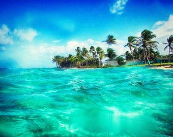 Aqua Waters | Big Corn Island | Nicaragua | Home Decor | Wall Art | Fine Art Photography | Print | Matted