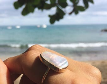 pearl ring - made to order