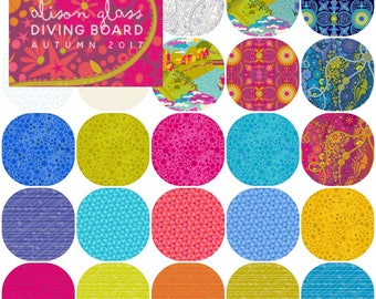 PRESALE Half Yard Bundle Cotton (24) of DIVING BOARD by Alison Glass for Andover Fabrics Half Yards