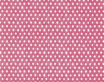 VACATION SALE 1/2 yard Menagerie by Gillian Fullard/London portfolio for Michael Miller Lips Sun tiles