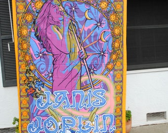 Janis Joplin Tapestry // 60 inches by 90 inches // 100% Cotton