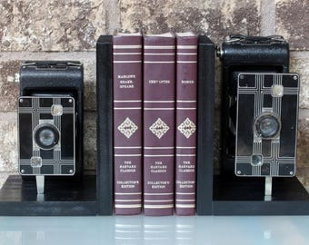 Kodak Jiffy Six-16 - Six-20 - Vintage Camera Bookends
