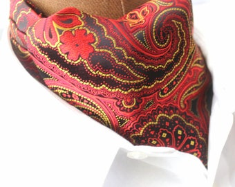 Ascot,Paisley,red,gold,yellow