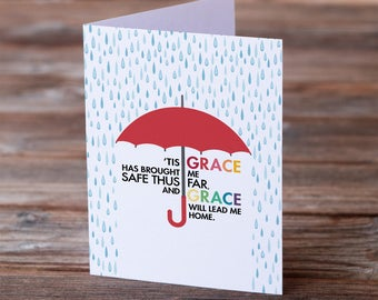 Amazing Grace • Greeting Card for All Occasions • Sympathy • Forgiveness