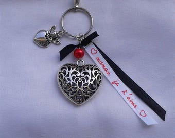 "Jewelry bag or Keychain heart ""Special mother's day"""