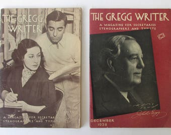 Gregg Writer Vintage Magazines - Stenographers, Secretaries, Court Reporters and Journalists Speed Writing Manuals.