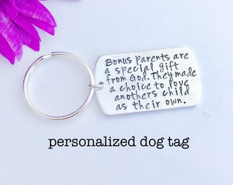 personalized dog tag- Hand Stamped key chain Personalized Gift Choose wording - custom gift - customize with your words - military dog tag