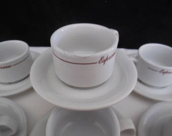 ESPRESSO NAAMAN  Demitasse Cups and Saucers