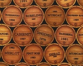 Wine Barrels - Plum Creek Knitting Project Bag - Choice of Size (WB)