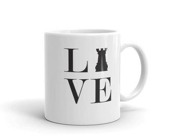 Mug - Live Love Chess Black Rook Mug