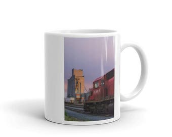 Mug - Red Silo Original Art - Canadian Pacific Elevator