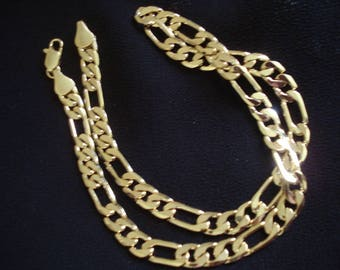 """MIRROR SHINE Men's 20"""" Gold Plated Chain by my DAD Father's Day Gift #341"""