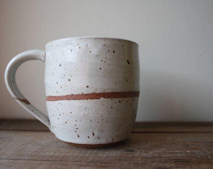 Coffee Mug - Earthenware - White - Ceramics & Pottery - KJ Pottery